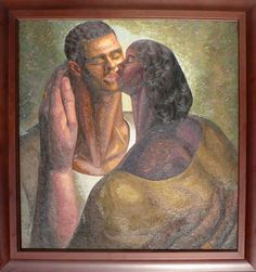 """Finney, Lawrence -- """"Love is stronger than"""" Strong Love, African American Art, Black Art, Art Pictures, Amazing Art, Culture, Caricatures, Gallery, Afro"""