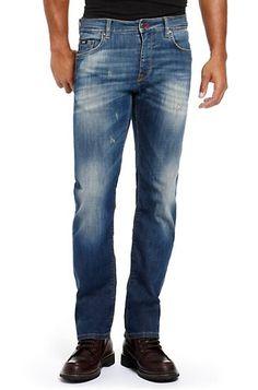 Slim Fit Straight Leg 'Maine' Jean, Medium Blue