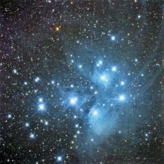 The Pleiades - I love looking at these through my binoculars
