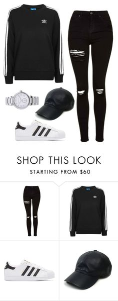 """Untitled #216"" by itsamandarose on Polyvore featuring Topshop, adidas Originals, Vianel and MICHAEL Michael Kors"