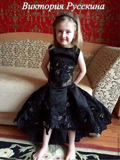 """Одежда для девочек, ручной работы. Платье для девочки """" Черная Орхидея"""". Виктория Русскина. Ярмарка Мастеров. Подарок для девочки"""