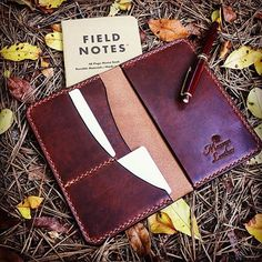 Field notes cover in Horween Dublin. #fieldnotes #cover #leather #handstitched #handmade #usa #edc