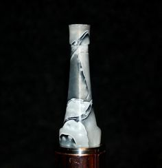 gray white handmade 510 drip tip Gallery Tips on FB and screamingfromthegallery.com