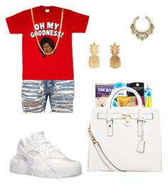 """""""SHANAENAE"""" by queen-miy ❤ liked on Polyvore featuring NIKE, ASOS, Vinca and MICHAEL Michael Kors"""