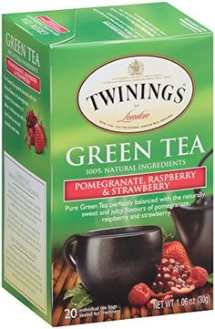 Twinings Tea, Green Tea, Pomegranate/Raspberry and Strawberry, 20 Count (Pack of 6) Twinings http://www.amazon.com/dp/B00IDXQW5I/ref=cm_sw_r_pi_dp_vQ31wb0Z1DRWV