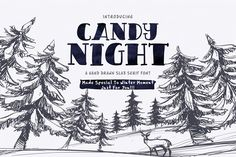 CANDY NIGHT by Weasel Foundry on CANDY NIGHT is a bold & trendy hand written Slab Serif typeface. CANDY NIGHT is perfect for typography layouts, invitations, weddings, logos, and so much more! Best Script Fonts, Ttf Fonts, Cool Fonts, Slab Serif Fonts, Serif Typeface, Brush Script, Christmas Fonts, Christmas Ideas, Typography Layout