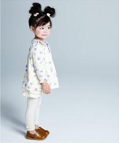 this girl is so adorable!!!  rosy/chubby/cheeked/cute/fashionable/black/haired/asian/baby/girl.