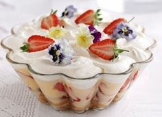 Asian Desserts! Fresh Strawberries on top make it so delicious! Live and Teach English in Asia so that you can eat this yummy dessert. #GetPaid2Travel Visit our site www.ataonline.edu.au