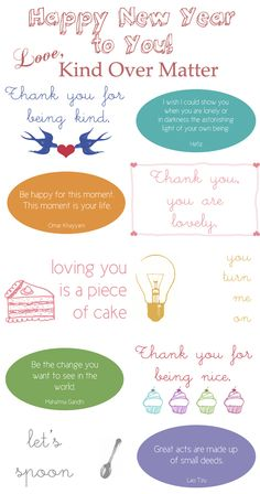 Printable Kindness Cards to go in the Conscious Discipline Mail Station