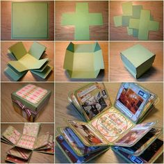 I love this idea of a photo album in a box!