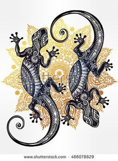 Image result for curled gecko tattoo
