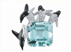 Van Cleef & Arpels aquamarine and diamonds brooch,  penguin