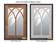 gothic arch glass cabinet doors kitchen