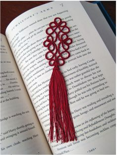 This is my favourite tatted bookmark to make, and it's quick too. http://www.kersti.com/2009/04/stumpy-tatted-bookmark-pattern/