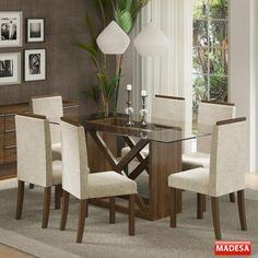 Gostou desta Mesa de Jantar 6 Lugares Jamy Marrom - Madesa, confira em: https://www.panoramamoveis.com.br/mesa-de-jantar-6-lugares-jamy-marrom-madesa-5869.html