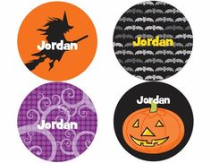 """Kids love seeing their name in print on our name stickers! A set of 12 gives them plenty of stickers to label their favorite things! Printed on state-of-the-art digital printing systems using the highest quality materials to create a gift that will last. Each set contains 3 sheets with 4 stickers per sheet. Each sticker is 2"""" in diameter. Once we receive the name for personalization we typically ship in 3 working days. Made in the U.S.A."""