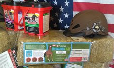 Loving the display of the new Rebel western helmet from Wheeler's Feed in TX!