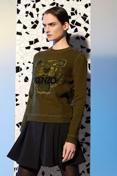 Kenzo Tone on tone Tiger sweatshirt - Kenzo Sweatshirts & Sweaters Women - Kenzo E-shop