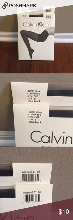 Two pair Calvin Klein pantyhose Both pairs are matte sheer control top size d color black. Both pairs are included in the purchase. Calvin Klein Accessories Hosiery & Socks