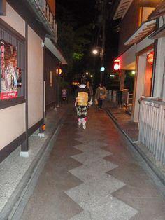 geisha s'en allant, Pontocho, Kyoto