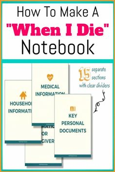 How To Organize Important Documents in an Emergency Binder or Household Notebook. How To Organize Important Documents in an Emergency Binder or Household Notebook - Decluttering Your Life The Plan, How To Plan, Family Emergency Binder, In Case Of Emergency, Emergency Preparedness Kit, Emergency Preparation, Emergency Planning, Memo Boards, Documents Importants