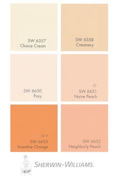 Meranda's Picks- FAV Salmon Shades -Sherwin Williams Paints