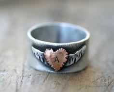 Winged Heart Sterling Silver Ring by Monkeys Always Look monkeysalwayslook....i love their stuff!!!!!