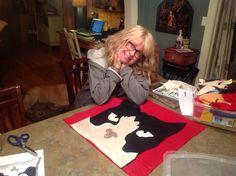 Creating cat pillow