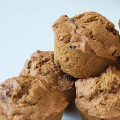 If pumpkin pie is too sweet for you, try one of these pumpkin raisin flax muffins. Full of fiber, they also contain B vitamins and omega-3s, which means they can double as a healthy and filling breakfast!