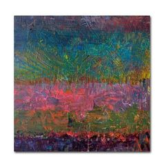 """Latitude Run Wildflowers Painting Print on Wrapped Canvas Size: 35"""" H x 35"""" W x 2"""" D"""