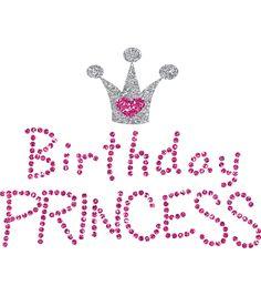 Birthday Princess-Uptown Baby Glitter Iron-On Transfer