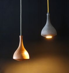 #lamps #interiordesign #organicshape #industrial hand made wooden and concrete lamp