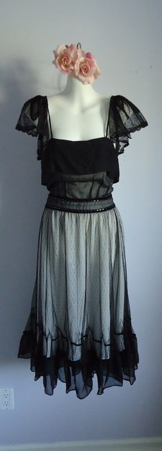 Vintage Couture Chloe Dress in Black Silk by MadMakCloset on Etsy, $1500.00