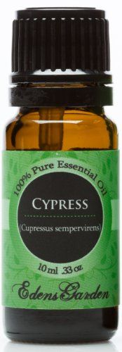 Cypress 100% Pure Therapeutic Grade Essential Oil- 10 ml Edens Garden http://www.amazon.com/dp/B0046ZXDG8/ref=cm_sw_r_pi_dp_-WXUub11N5JBX