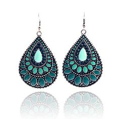 Lureme Vintage Enamel Waterdrop Earring – USD $ 4.99
