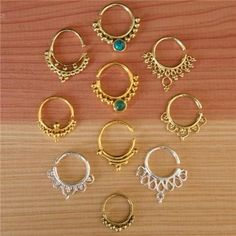 Assorted Septums For Pierced Nose - Body Jewelry - Septum Jewelry - Indian Nose Ring - Ethnic Septum - Septum Piercing - Nose Jewelry  An assorted of my best selling silver ,brass and gold plated septums for a pierced nose  You will get 10 different designs with a value of $165 in just $137.  When purchasing it, you can select 10 septums (as you want) from my shop  Instead of ordering few times and pay multiple postage get a beautiful variety in one go.  $137