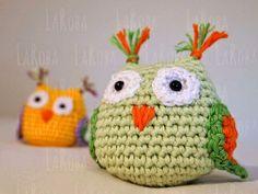 L'@ LaRoba: Búho- Amigurumi, patrón gratuito. Crochet Owls, Crochet Animals, Crochet Flowers, Crochet Baby, Knit Crochet, Crochet Keychain, Little Critter, Rainbow Dash, Crochet Designs