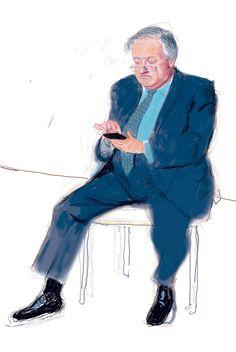 David Hockney, Paul Hockney I, Drawing in a Printing Machine, Annely Juda