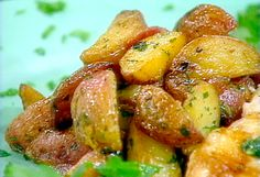 Crispy Potatoes with Bacon, Garlic, and Parsley recipe from Food Network Kitchen via Food Network