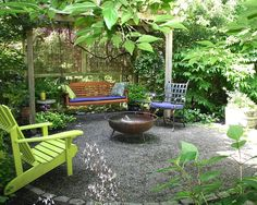 Design & Decorating: Backyard Makeover Eclectic Patio Small Pergola With Screen Bench Swing And Fire Pit, Eclectic Landscape, Wood Gazebo ~ Outmc