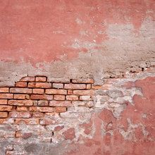 Valokuvatapetti - Pink Colored Brick Wall