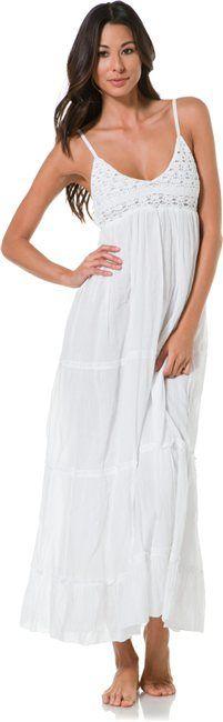 KRISTEN CROCHET BEACH MAXI DRESS > Sale | Swell.com