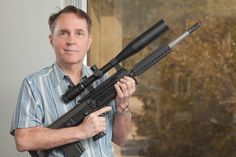 George Kellgren owner and head designer of Kel-tec. holding The RFB Target