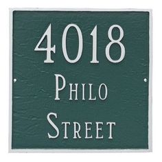 Montague Metal Products Classic Square Large Two Line Address Plaque Finish: Gray / Silver
