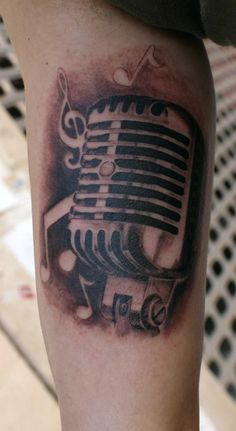 Tattoo by Rodri  Old microphone in TATTOOS by OtherSideTattoo tatuajes y piercing