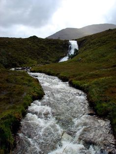Wild river in Skye island. Scotland.