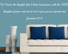 Check out Jeremiah 29:11 Vinyl Wall Art, Bedroom Wall Decal, Custom Vinyl Decals on inspirationwallsigns