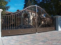 What a nice custom swing gate. Viking gate operator's are designed to drive your custom gate with utmost assurance and safety!!