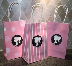 Barbie Inspired Birthday Party Gift Tags. $3.25, via Etsy.