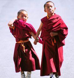Travel Asian Child monk with bubblegum, Tibet, via Flickr.